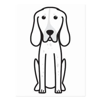 Carte Postale Bande dessinée majestueuse de chien de chasse