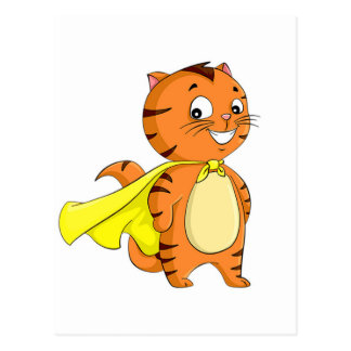 Carte Postale Bande dessinée superbe de chat