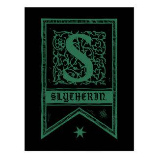 Carte Postale Bannière de monogramme de Harry Potter   Slytherin