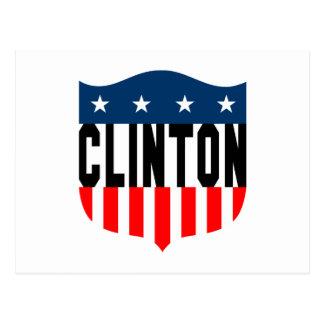 Carte Postale bannière étoilée de hillary Clinton