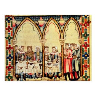 Carte Postale Banquet de fiançailles, du manuscrit