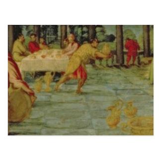 Carte Postale Banquet du Roi Belshazzar, c.1543/44