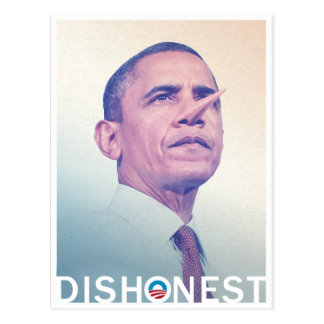 Carte Postale Barack Hussein Obama Pinocchio malhonnête