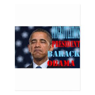 Carte Postale Barack Obama a gagné