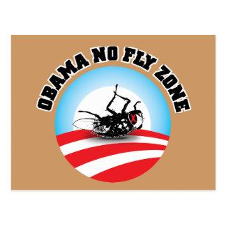 Carte Postale Barack Obama aucune zone de mouche