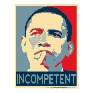 Carte Postale Barack Obama - incompétent
