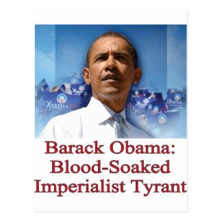 Carte Postale Barack Obama : Tyran impérialiste ensanglanté