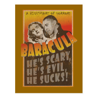 Carte Postale Baracula - affiche de film de Barack Obama