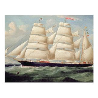 """Carte Postale Barque """"Clendovey"""" de tondeuse (huile sur la"""