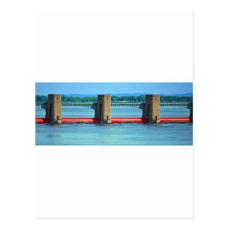 Carte Postale barrage à travers le Mississippi supérieur