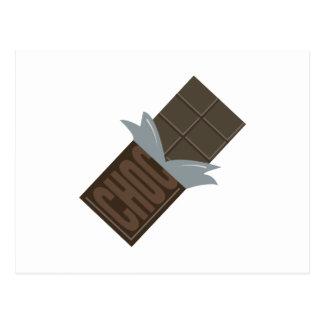 Carte Postale Barre de chocolat