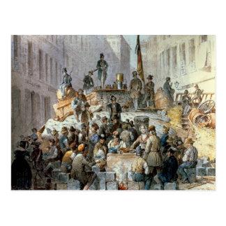 Carte Postale Barricades dans Marzstrasse, Vienne, 1848
