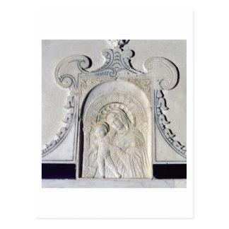 Carte Postale Bas-soulagement de Madonna et d'un enfant (marbre)