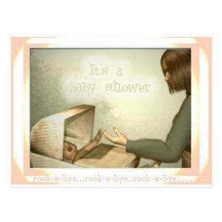 Carte Postale Basculez un baby shower secondaire