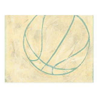Carte Postale Basket-ball bleu par Chariklia Zarris