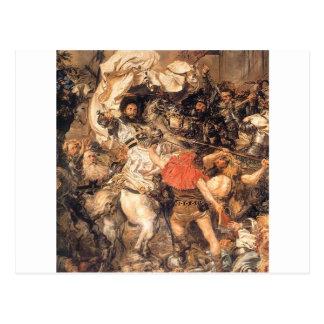 Carte Postale Bataille de Grunwald, la mort du maître grand