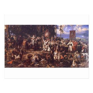 Carte Postale Bataille de Raclawice avant janvier Matejko