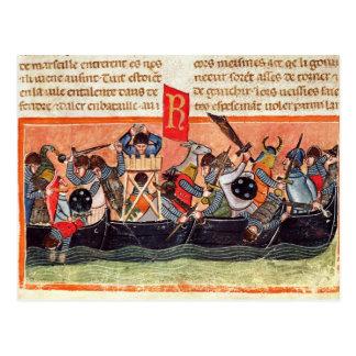 Carte Postale Bataille entre les Romains et le Gauls