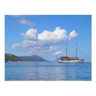 Carte Postale Bateau à la côte de Hvar, Croatie