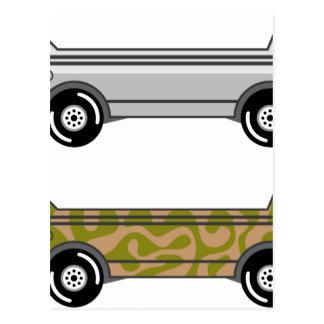 Carte Postale Bateau amphibie de camion sur des roues