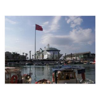 Carte Postale Bateau de croisière dans le port
