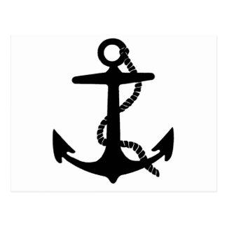 Carte Postale Bateau de pirate d'explorateur de mer d'ancre de