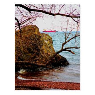 Carte Postale Bateau sur le lac Supérieur