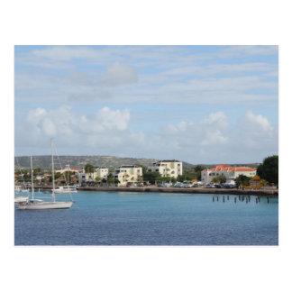 Carte Postale Bateaux à voile de port de Bonaire Kralendijk