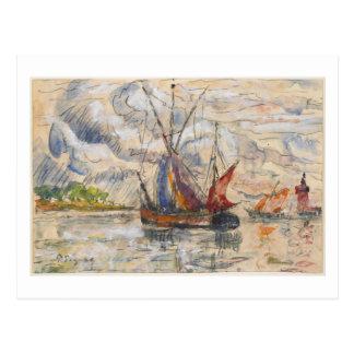 Carte Postale Bateaux de pêche à La Rochelle, c.1919-21