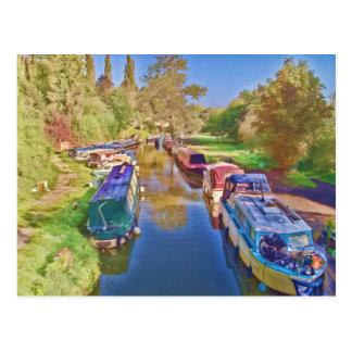 Carte Postale Bateaux sur le canal de Somerset