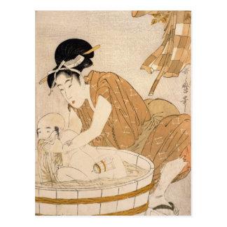 Carte Postale Bath, période d'Edo