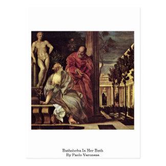 Carte Postale Bathsheba à son Bath, par Paolo Veronese