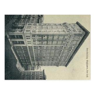 Carte Postale Bâtiment de presse - Binghamton New York