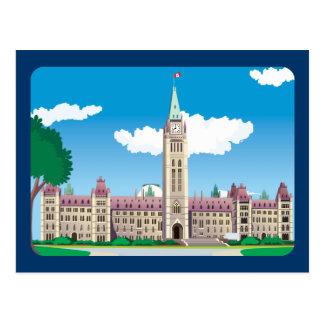 Carte Postale Bâtiment du Parlement d'Ottawa