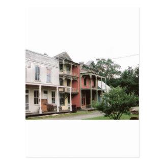 Carte Postale Bâtiments colorés de ville fantôme