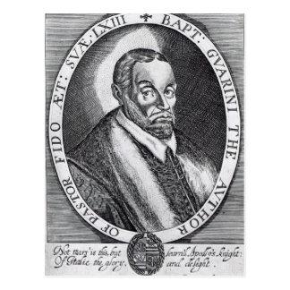 Carte Postale Battista Guarini, frontispice au 'pasteur de l'IL