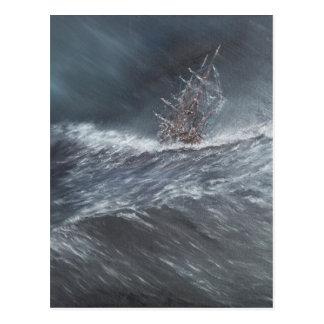 Carte Postale Beagle de voie HMP dans une tempête outre du Cap