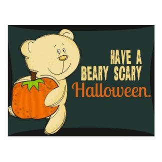 Carte Postale Beary Halloween effrayant