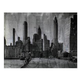 Carte Postale Beau cru noir et blanc NYC de photo