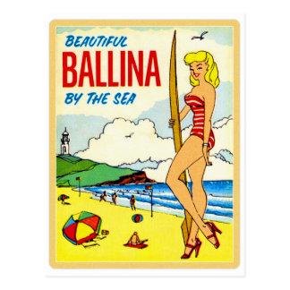 Carte Postale Beau décalque de bikini de Ballina de kitsch
