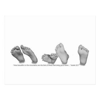 Carte Postale Beaux pieds
