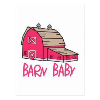 Carte Postale Bébé de grange