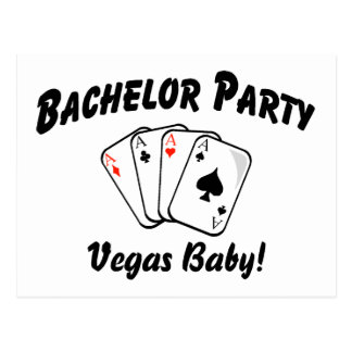 Carte Postale Bébé de Vegas d'enterrement de vie de jeune garçon