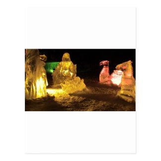 Carte Postale Bébé Jésus en glace