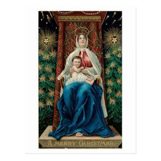 Carte Postale Bébé Jésus et Mary sur Noël