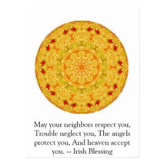 Carte Postale Belle bénédiction irlandaise - IRLANDE