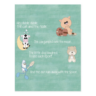 Carte Postale Belles comptines de bébé