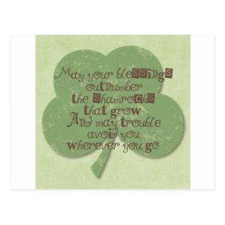 Carte Postale Bénédiction de jour de St Patricks