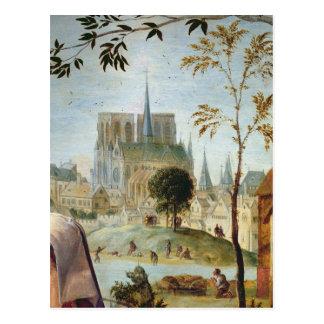 Carte Postale Berger avec le troupeau et les baigneurs