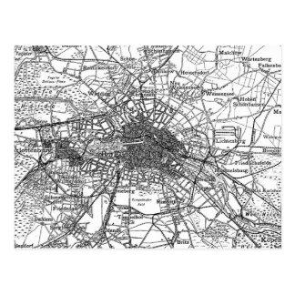 Carte Postale Berlin et abords Map (1911)